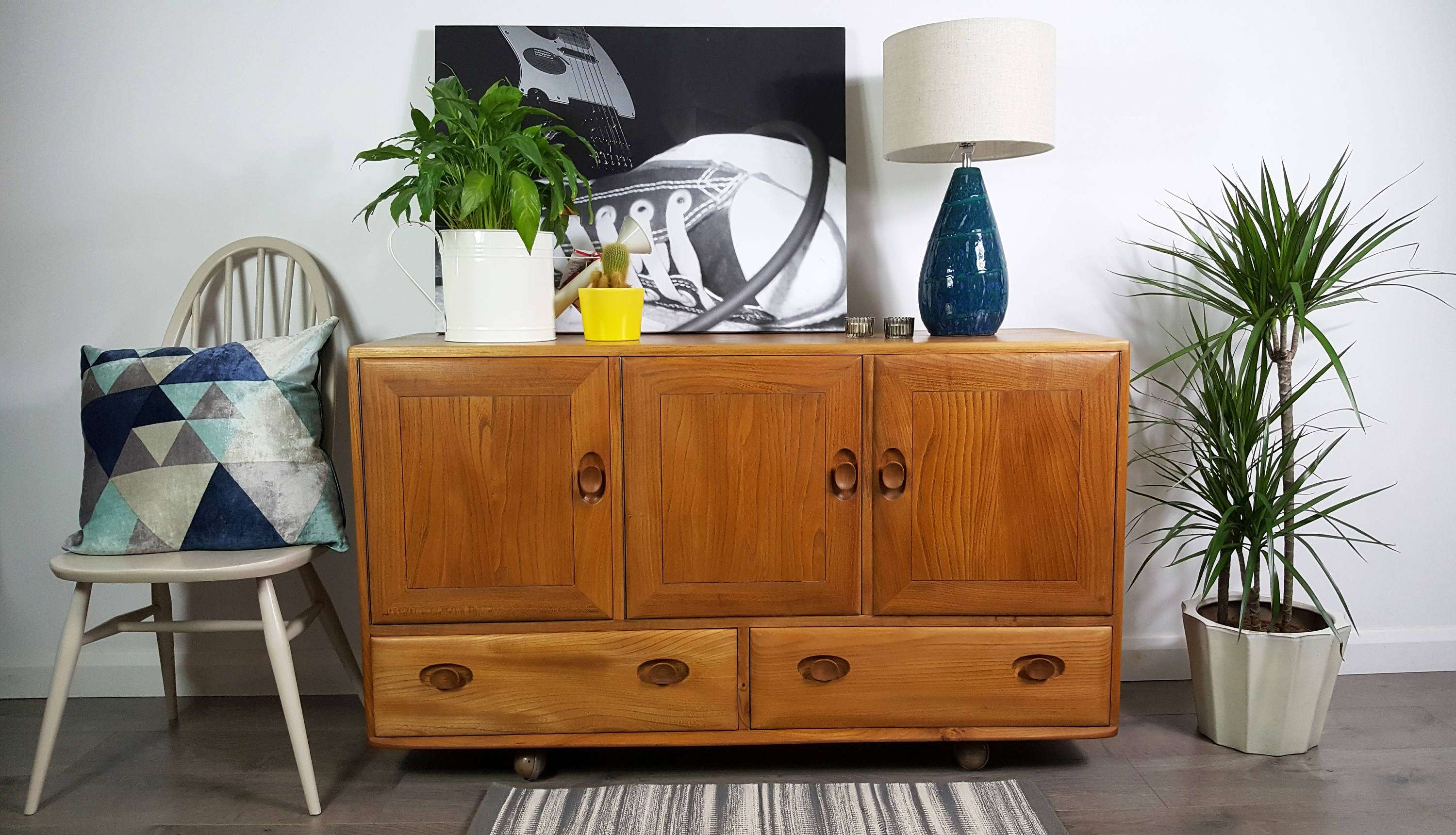 Ercol Sideboard Professional Refinished | Vinterior Throughout 50S Sideboards (View 9 of 20)