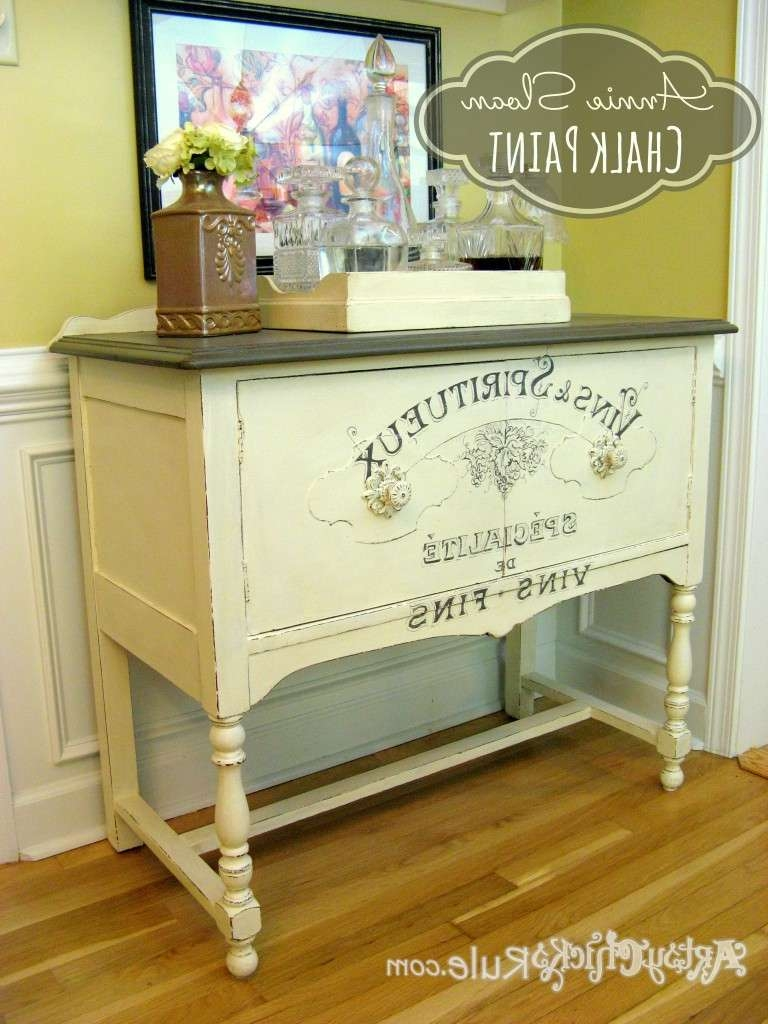 Estate Sale Sideboard With Chalk Paint Graphics (2Nd Time's The Intended For Chalk Painted Sideboards (View 10 of 20)
