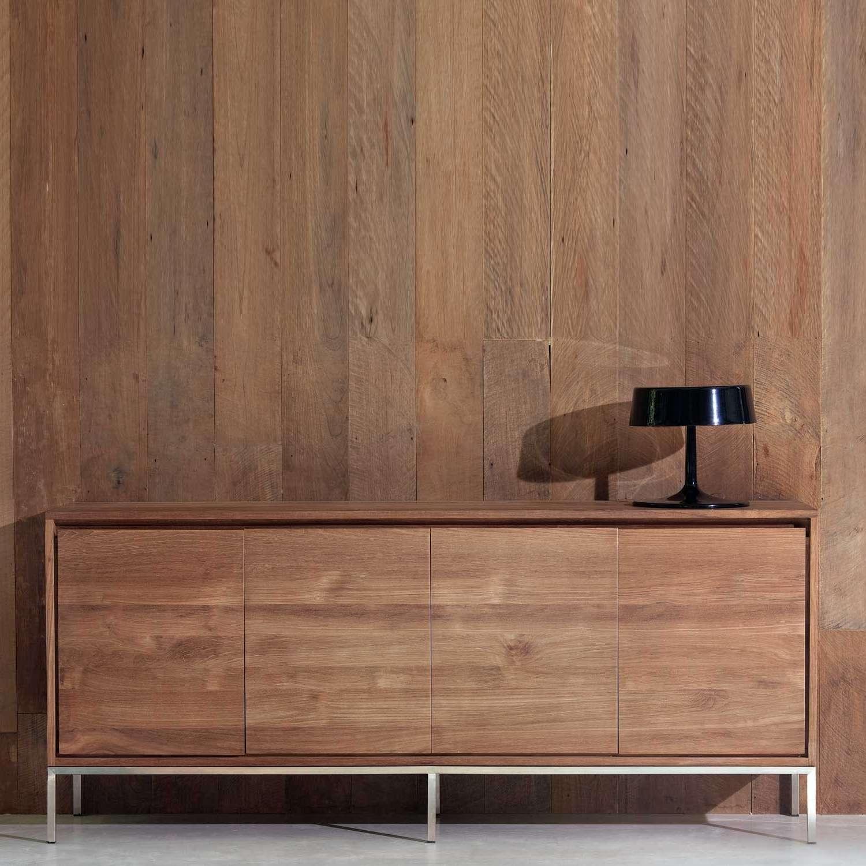 Ethnicraft Essential Teak Sideboard | Solid Wood Furniture Regarding Teak Sideboards (View 19 of 20)