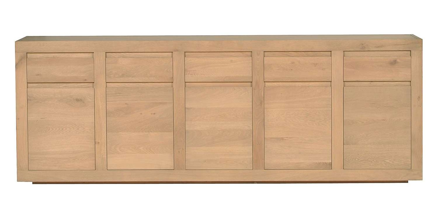 Ethnicraft Flat Oak Sideboard | Solid Wood Furniture With Oak Sideboards (View 4 of 20)