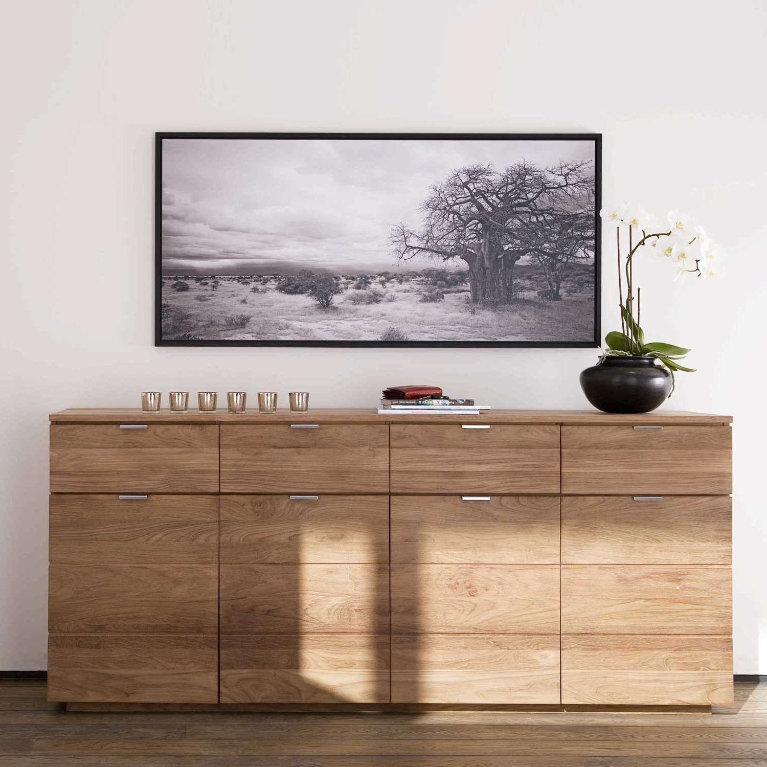 Ethnicraft Groove Teak Sideboards | Solid Wood Furniture Pertaining To Teak Sideboards (View 7 of 20)