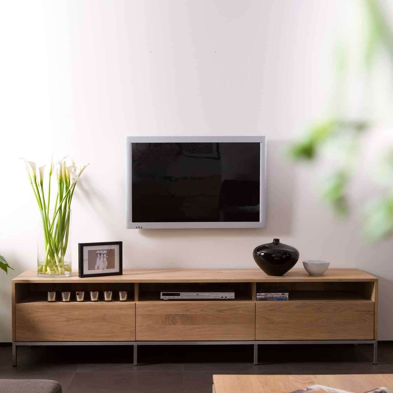 Ethnicraft Ligna Oak Tv Units | Solid Wood Furniture With Contemporary Oak Tv Cabinets (View 9 of 20)