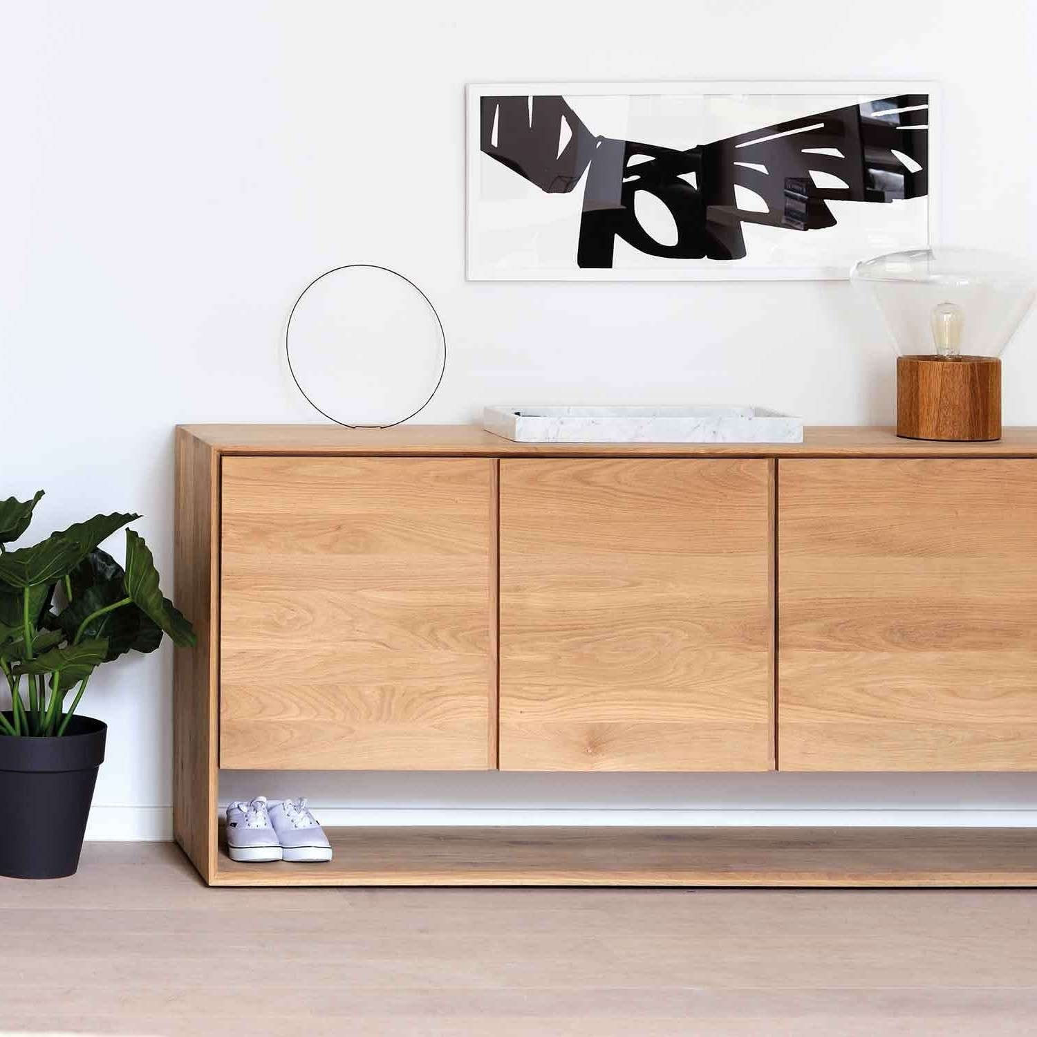 Ethnicraft Oak Nordic Sideboard With Regard To Sideboards (View 5 of 20)
