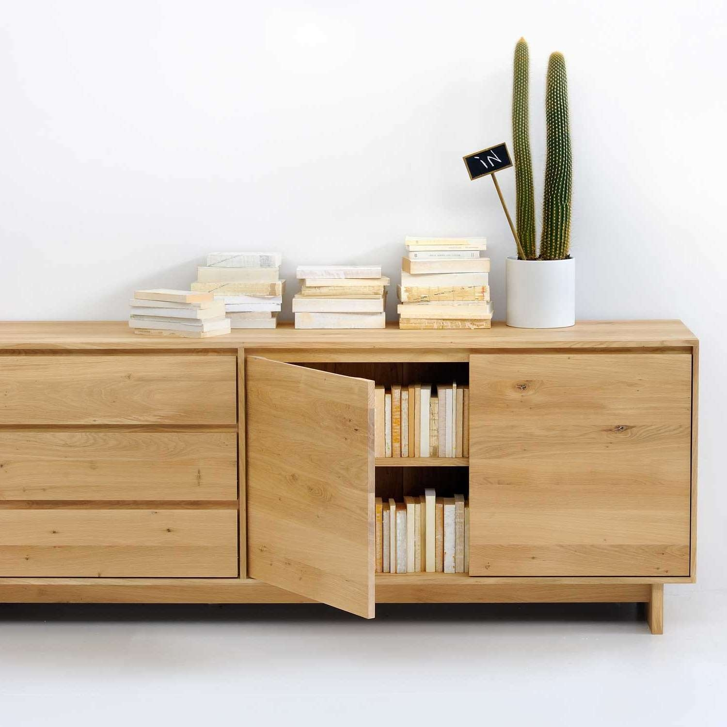 Ethnicraft Oak Wave Sideboard For Sideboards (View 7 of 20)