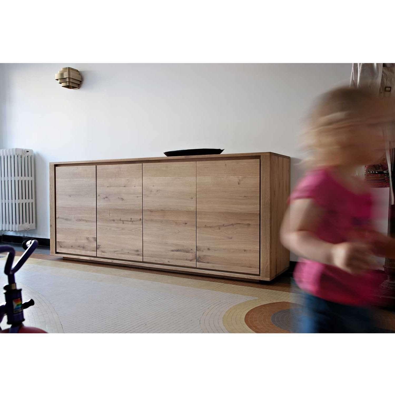 Ethnicraft Shadow Oak Sideboard   Solid Wood Furniture Inside Wooden Sideboards (View 15 of 20)
