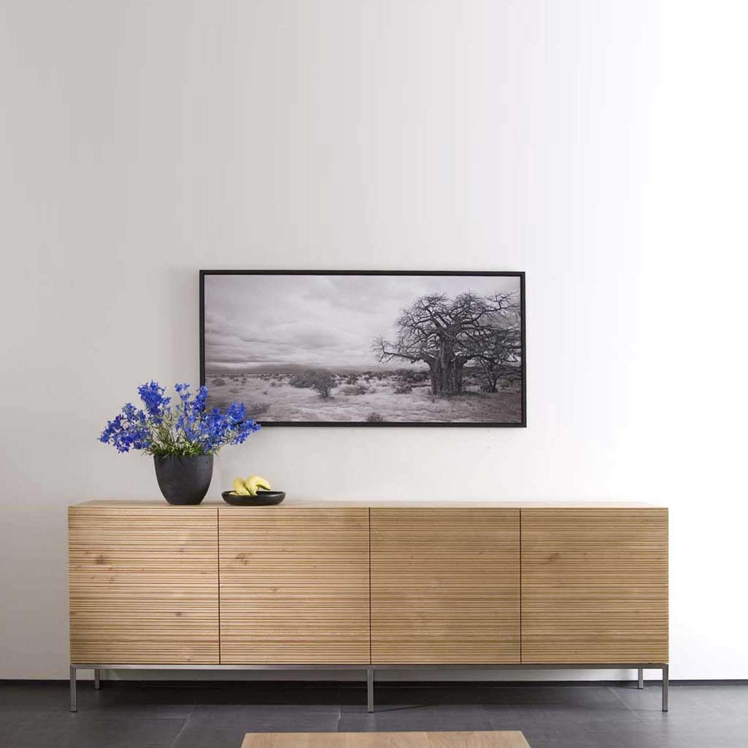 Ethnicraft Stonecut Oak Sideboards | Solid Wood Furniture For Low Wooden Sideboards (View 9 of 20)