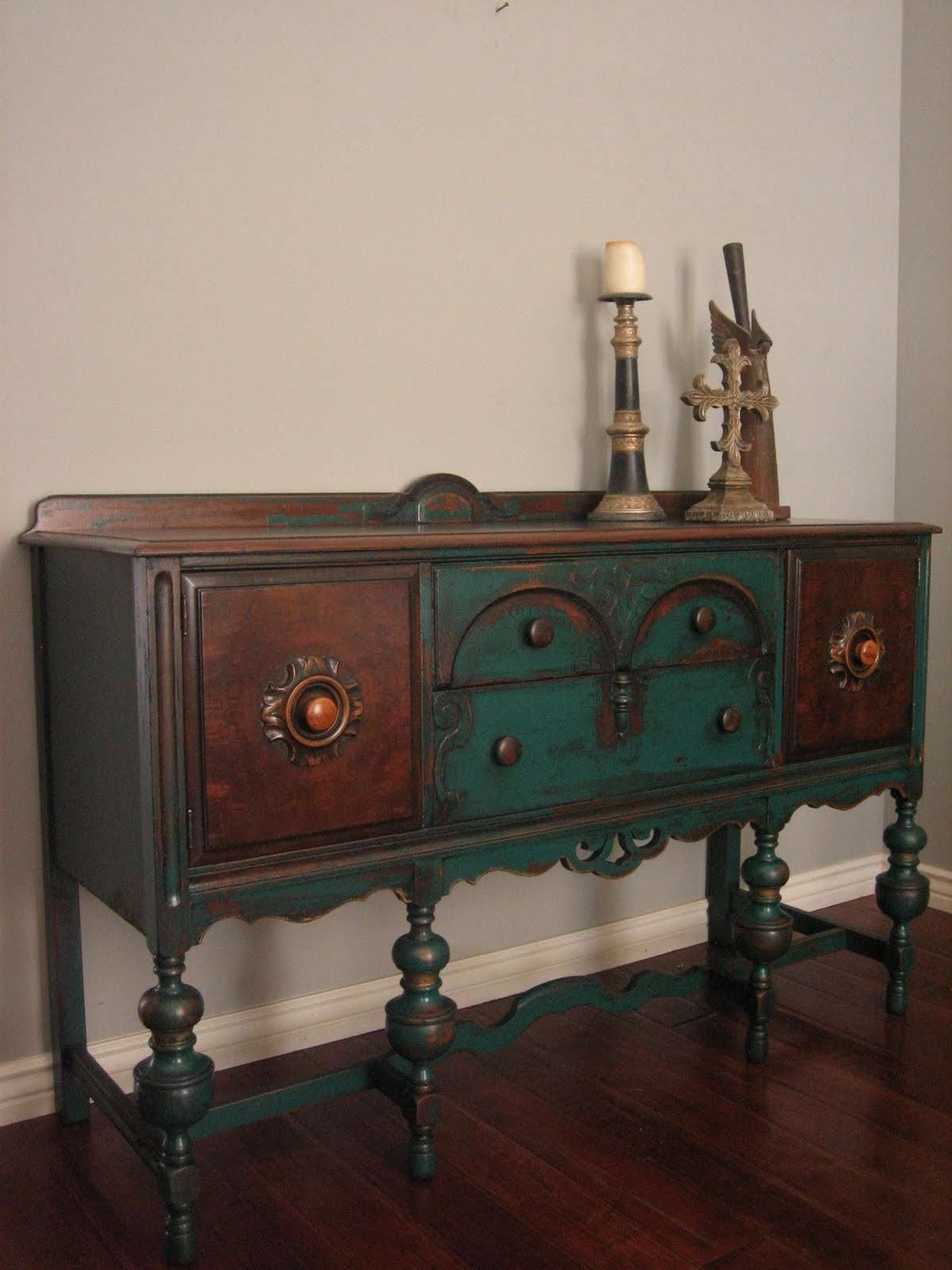 European Paint Finishes: Peacock Green Sideboard ~ With Green Sideboards (View 18 of 20)