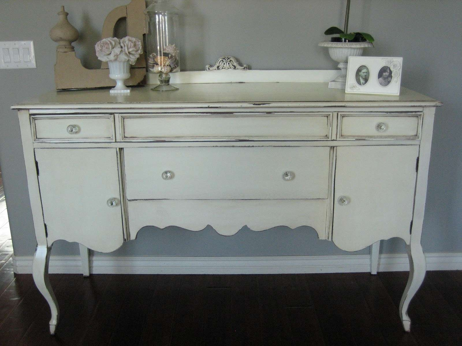 European Paint Finishes: ~ Shabby Chic Antique Sideboard ~ Intended For Shabby Chic Sideboards (Gallery 1 of 20)