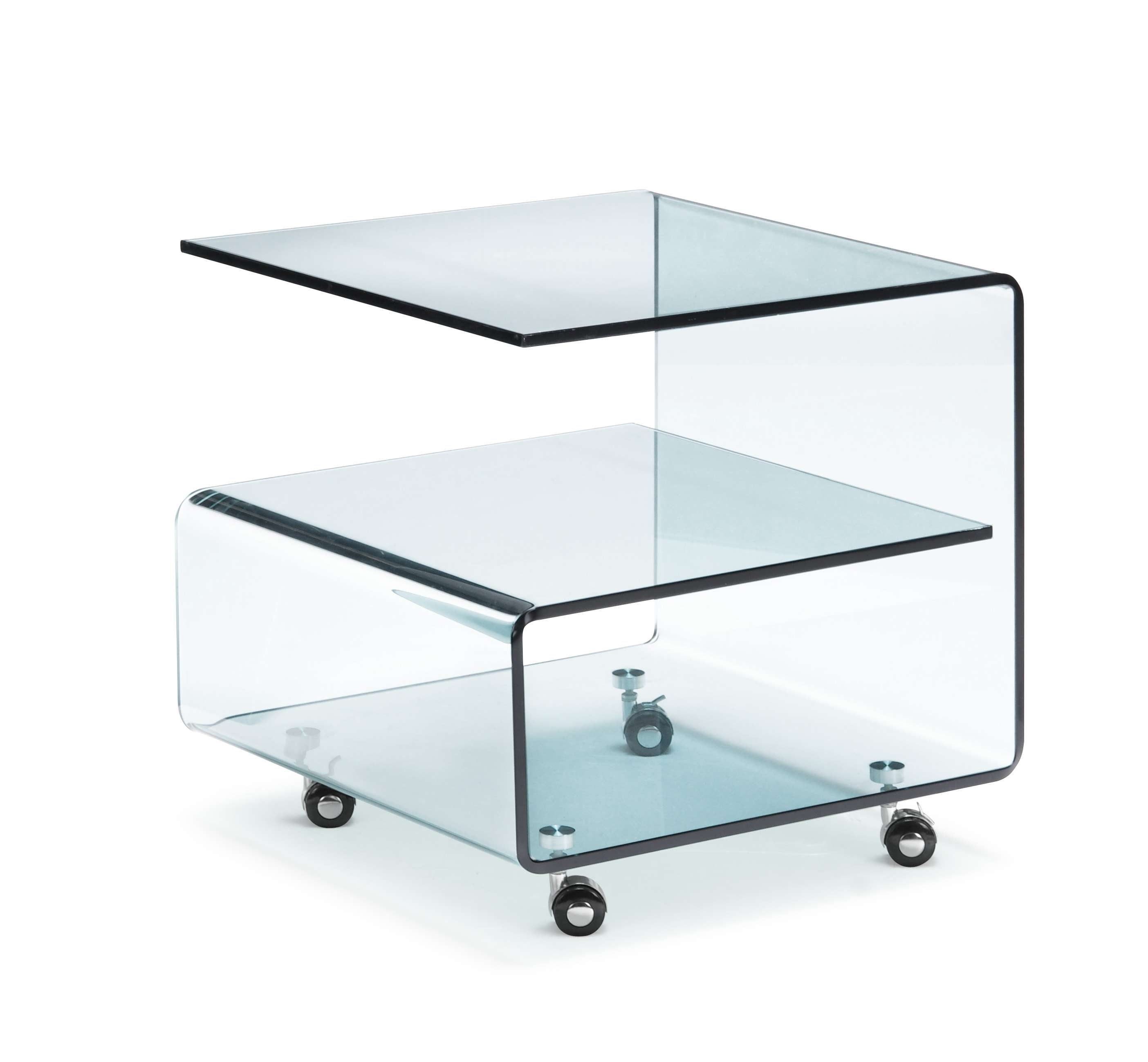 Excellent Glass Side Table With Shelf 81 On Dazzle Side Tables Within Well Known Glass Coffee Tables With Shelf (View 4 of 20)