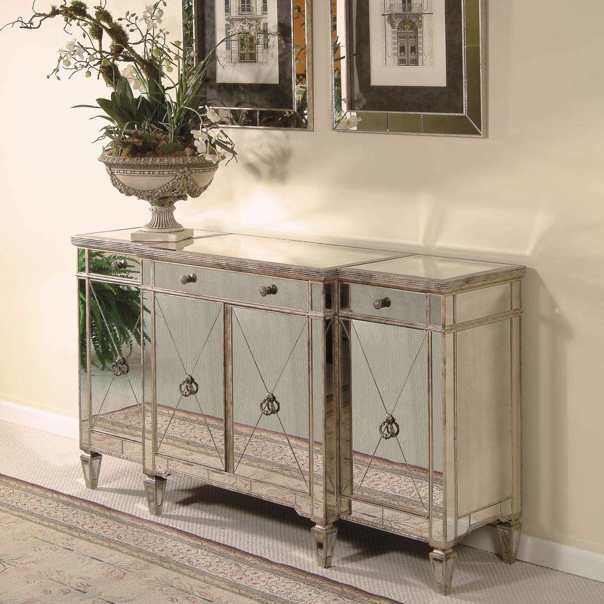 Excellent Mirrored Buffet Table — All About Home Design : How To With Mirrored Buffet Sideboards (View 17 of 20)