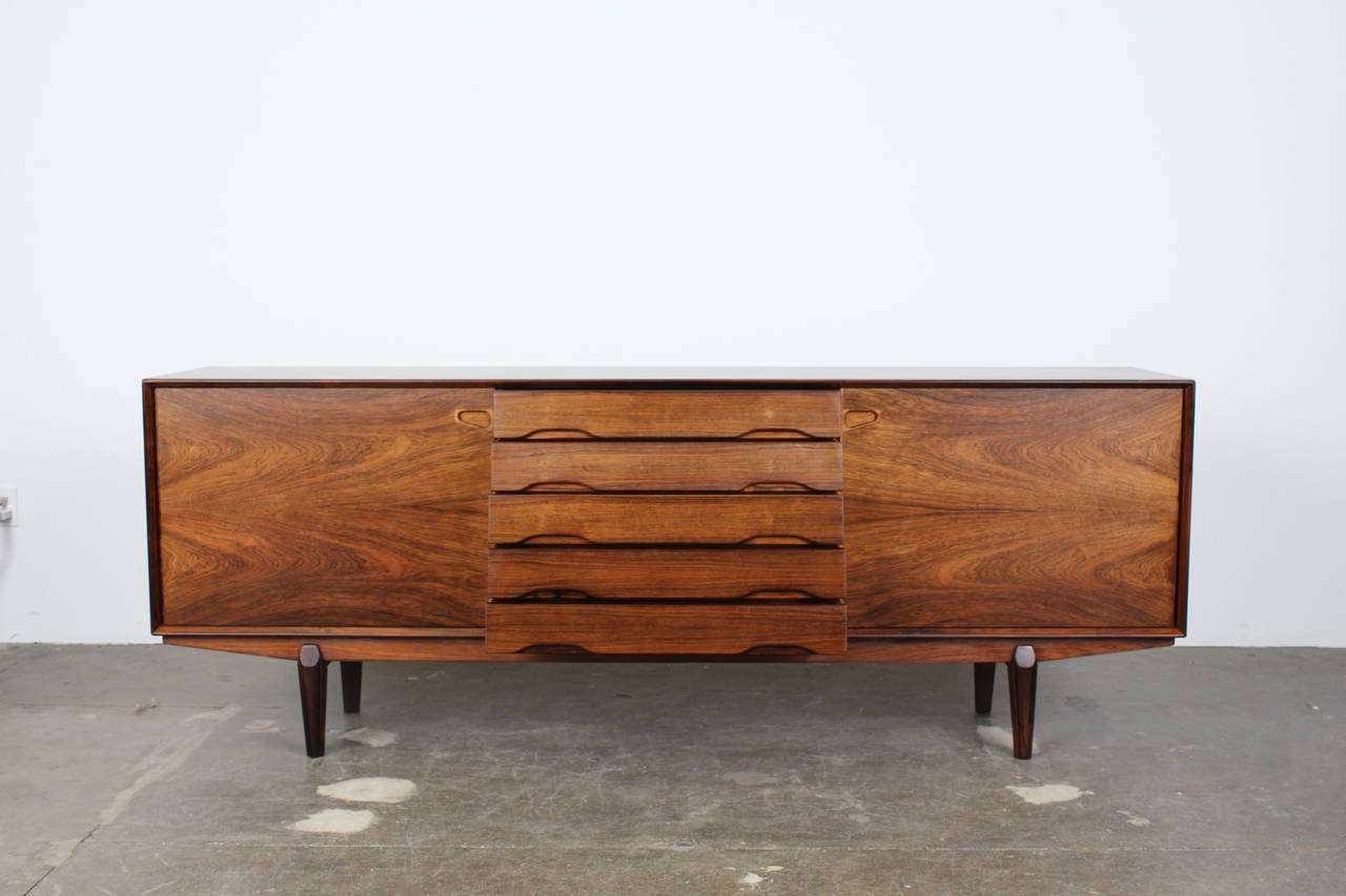 Exceptional Danish Rosewood Long, Low Sideboardskovby Throughout Long Low Sideboards (Gallery 2 of 20)