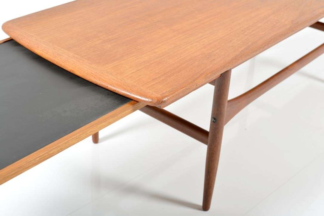 Extendable Teak And Formica Coffee Table, 1950S For Sale At Pamono Inside Most Up To Date Extendable Coffee Tables (View 11 of 20)