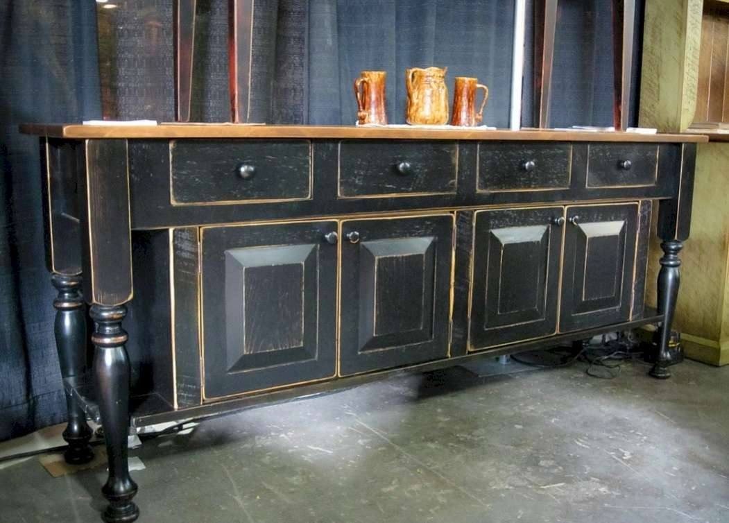 Extra Long Buffet Sideboard Black — New Decoration : New Extra With Regard To Extra Long Sideboards And Buffets (View 2 of 20)
