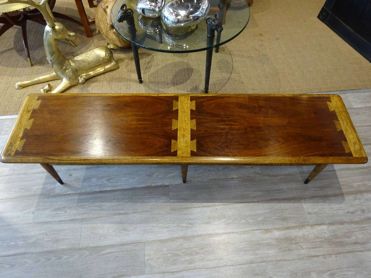 Extra Long Lane Dovetail Coffee Table At 1Stdibs Pertaining To Well Known Extra Long Coffee Tables (Gallery 9 of 20)