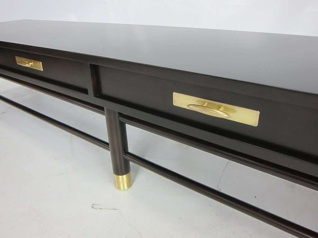 Extra Long Modern Hall Bench/coffee Table With Brass Trim At 1Stdibs Pertaining To Well Liked Extra Long Coffee Tables (View 11 of 20)