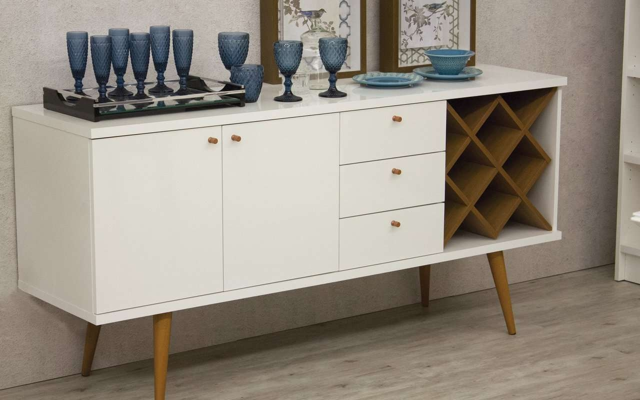 Extraordinary Wine Buffet Hutch Sideboard With Mini Fridge Buffet Pertaining To Wine Sideboards (View 9 of 20)