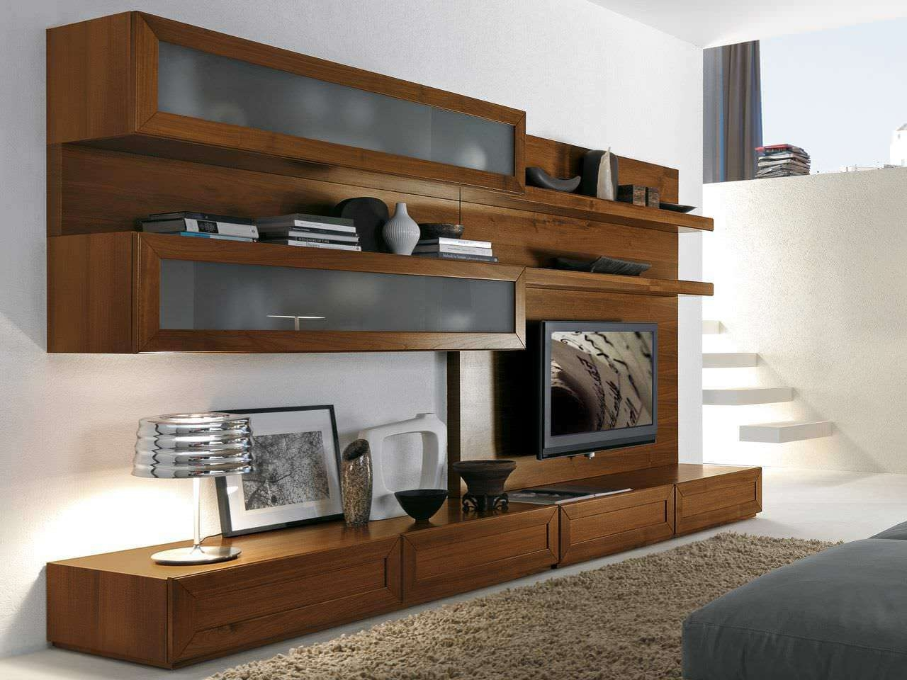Extremely Strong Tv Cabinet With Doors In Elegant Look | All For Funky Tv Cabinets (View 2 of 20)