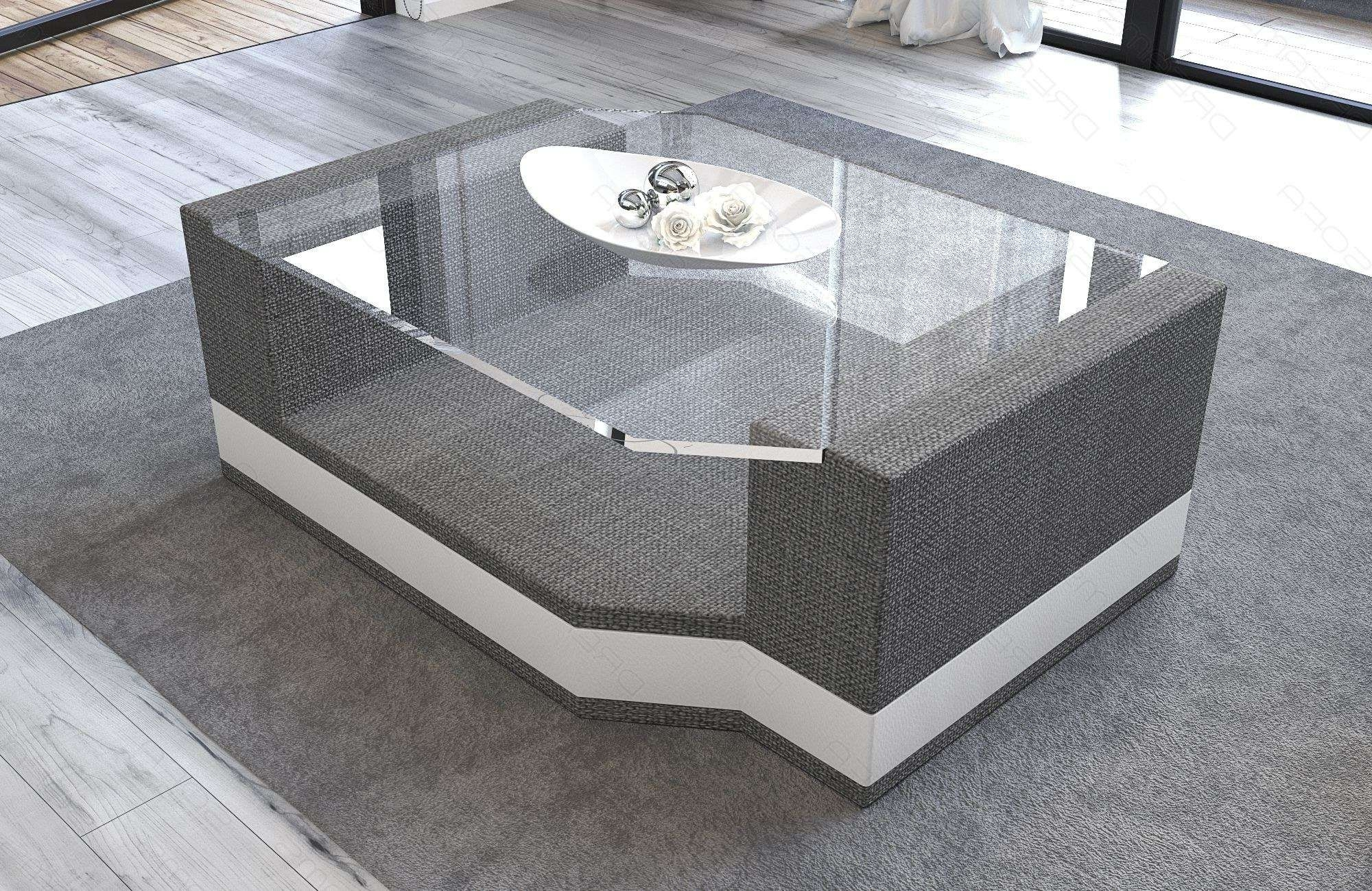 Fabric Coffee Table Los Angeles With Glass Plate Intended For Fashionable Fabric Coffee Tables (View 5 of 20)