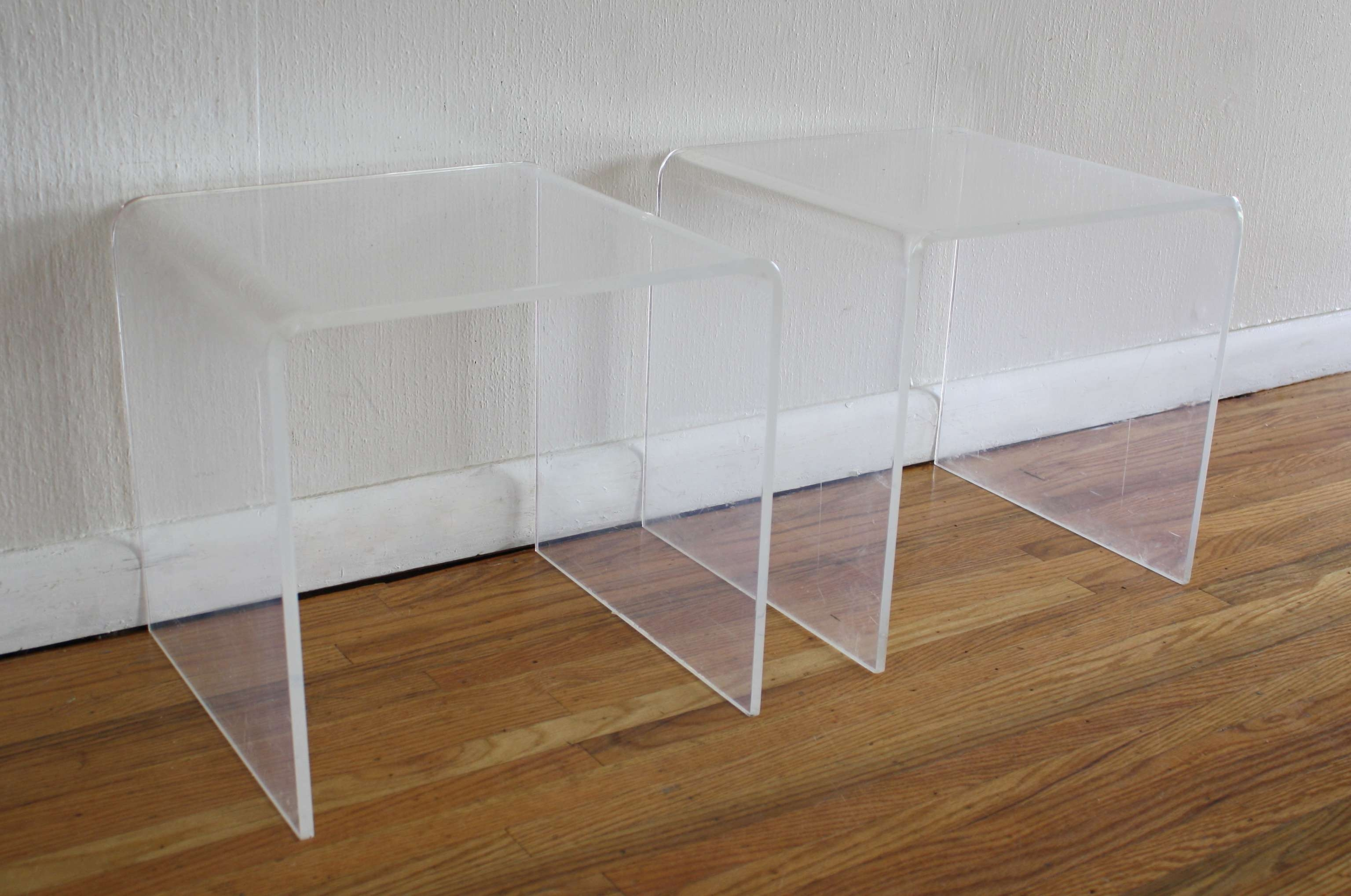 Famous Acrylic Coffee Tables With Magazine Rack Throughout Lucite (View 14 of 20)