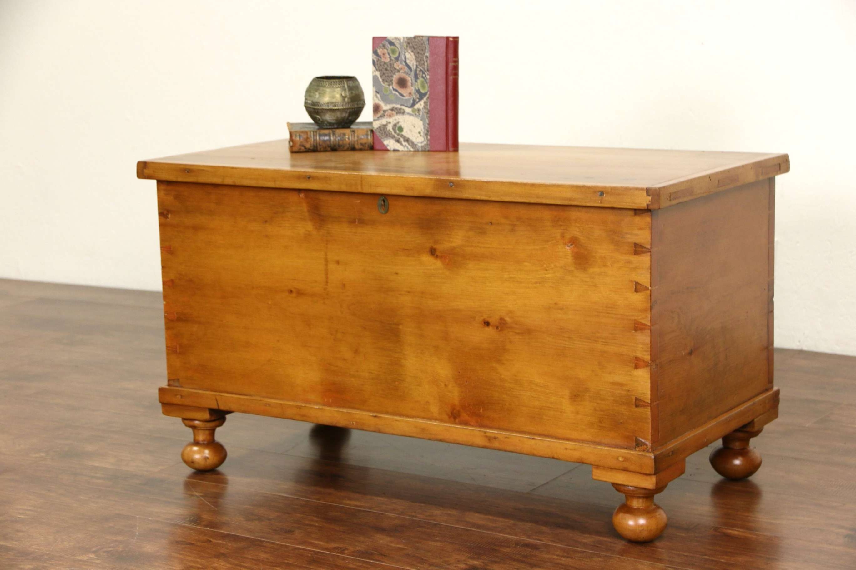 Famous Antique Pine Coffee Tables Within Sold – Country Pine 6 Board 1850 Antique Trunk, Blanket Chest Or (View 8 of 20)