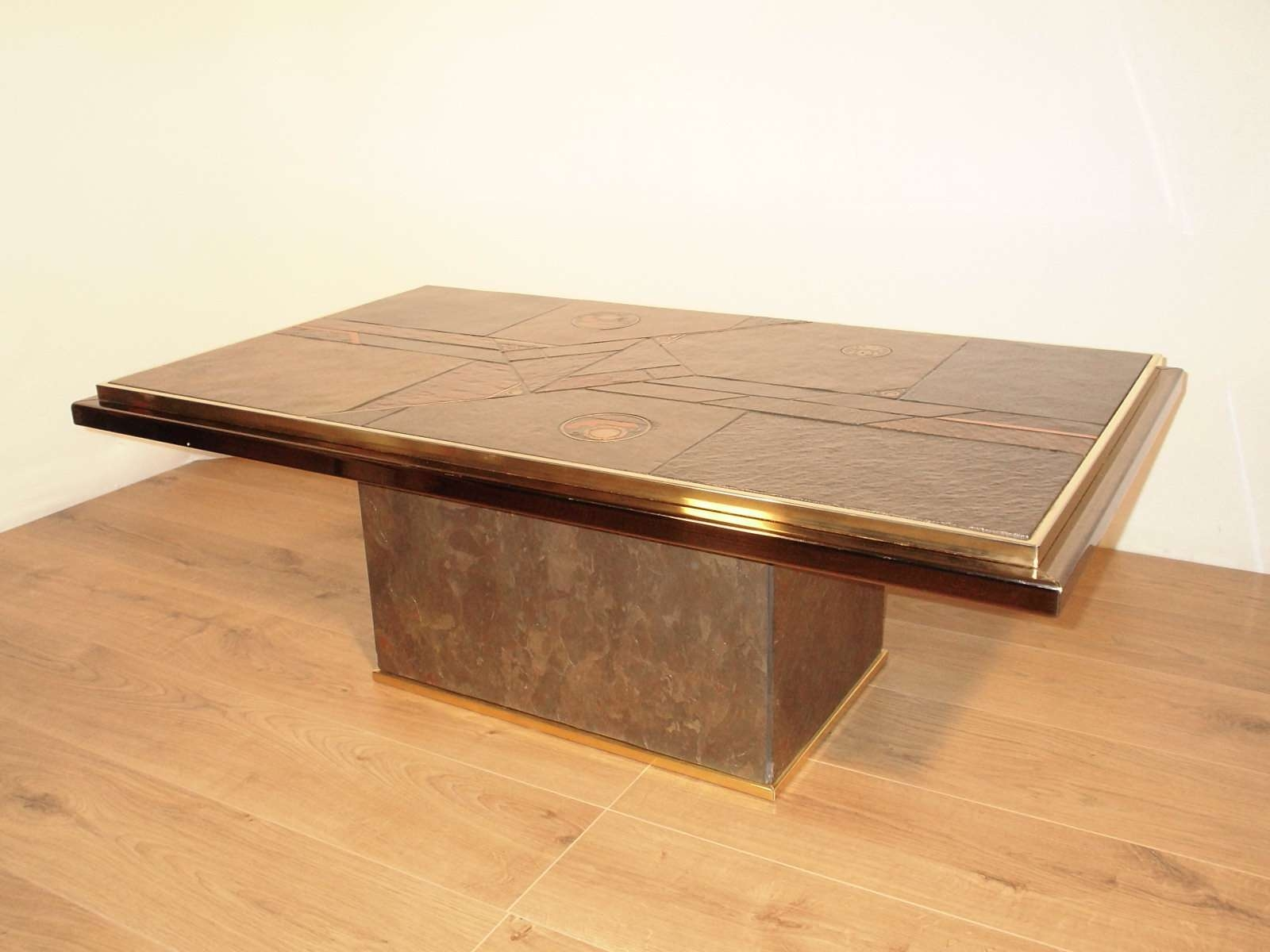 Famous Bronze Coffee Tables Within Stone And Bronze Coffee Tablepaul Kingma, 1970 For Sale At Pamono (View 5 of 20)