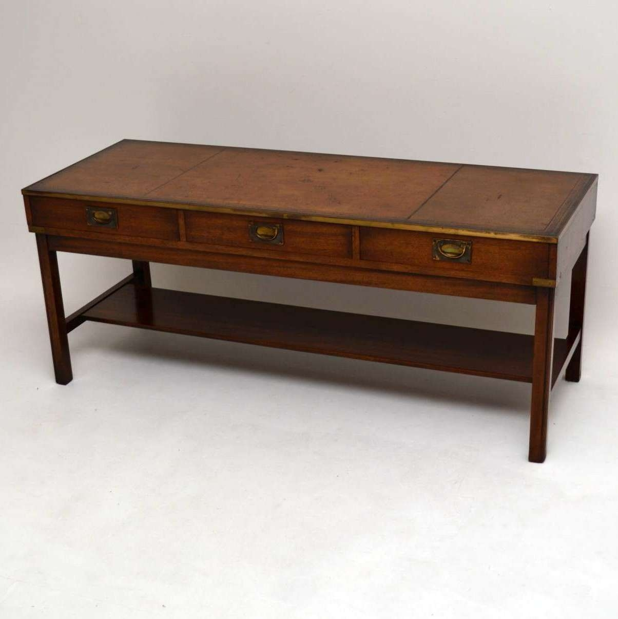 Famous Campaign Coffee Tables For Coffee Tables : Campaign Coffee Table Low Folding Sarreid Ltd (View 7 of 20)