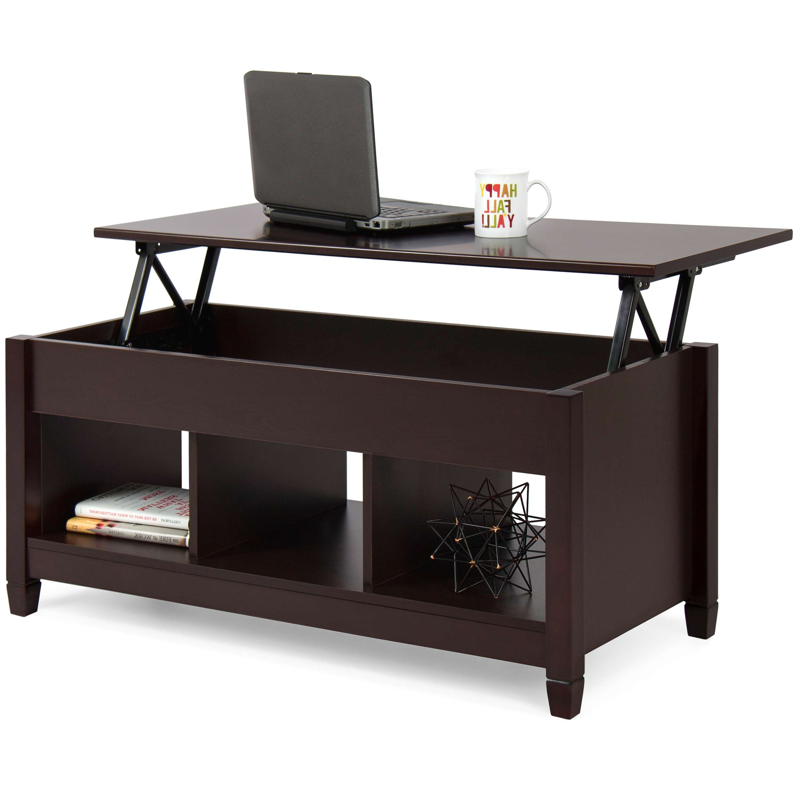 Famous Cd Storage Coffee Tables Pertaining To Best Choice Products Home Lift Top Coffee Table Modern Furniture W (View 9 of 20)