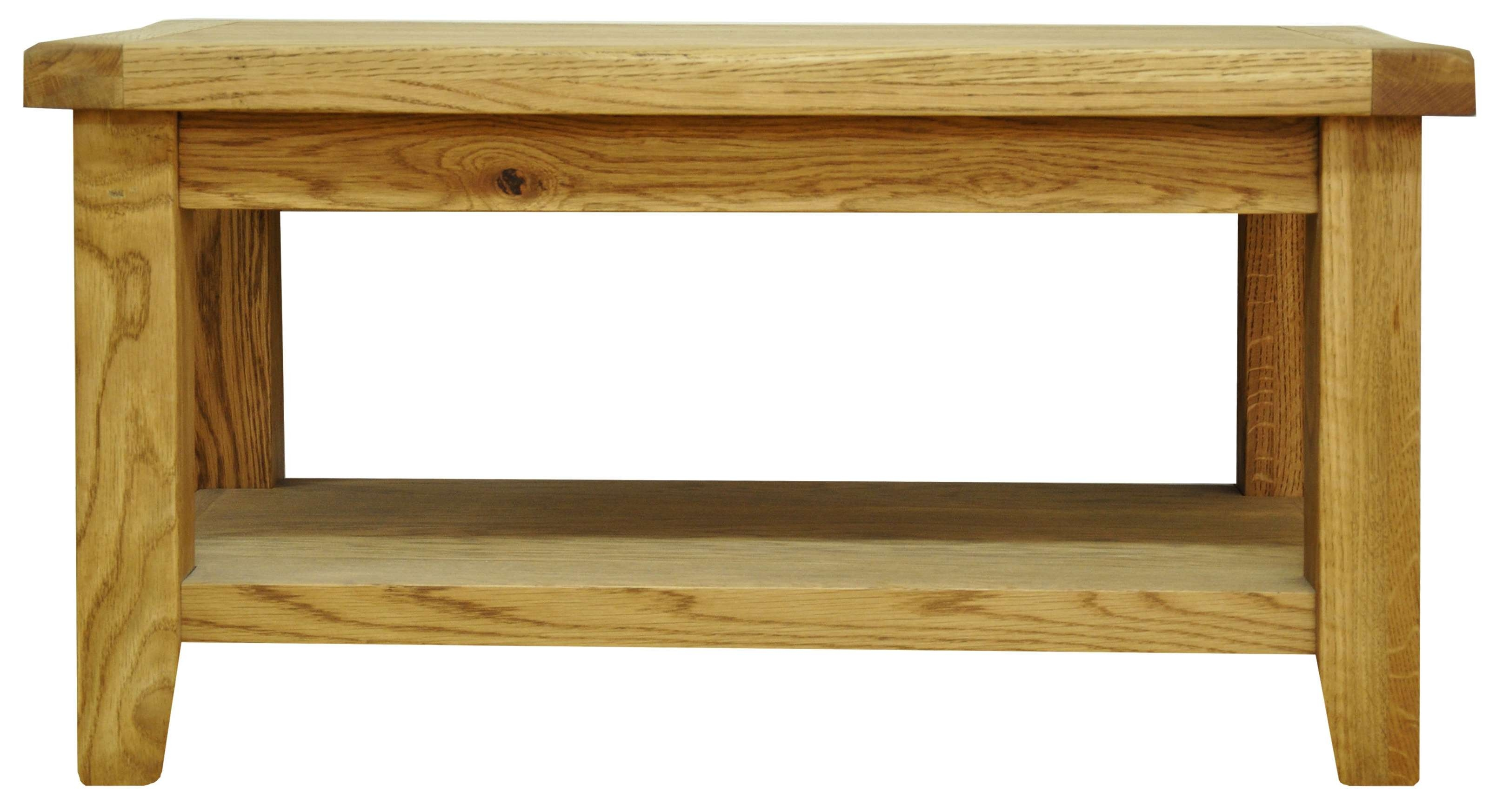 Famous Chunky Oak Coffee Tables For Coffee/lamp Tables : Stanton 850mm Rustic Oak Coffee Table With (View 16 of 20)