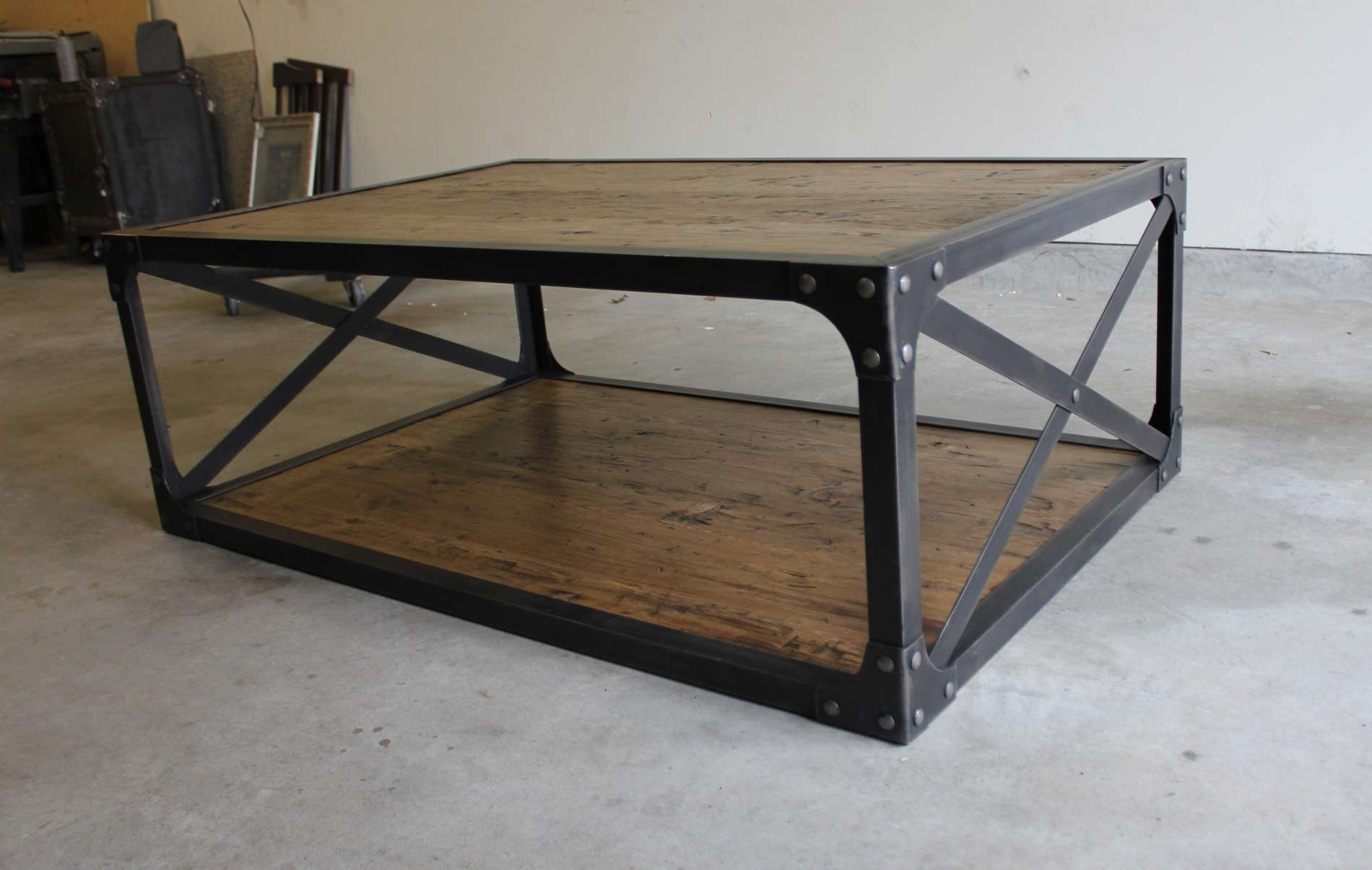 Famous Coffee Table Industrial Style Pertaining To Coffee Table : Fabulous Shabby Chic Coffee Table Rustic Coffee (View 5 of 20)
