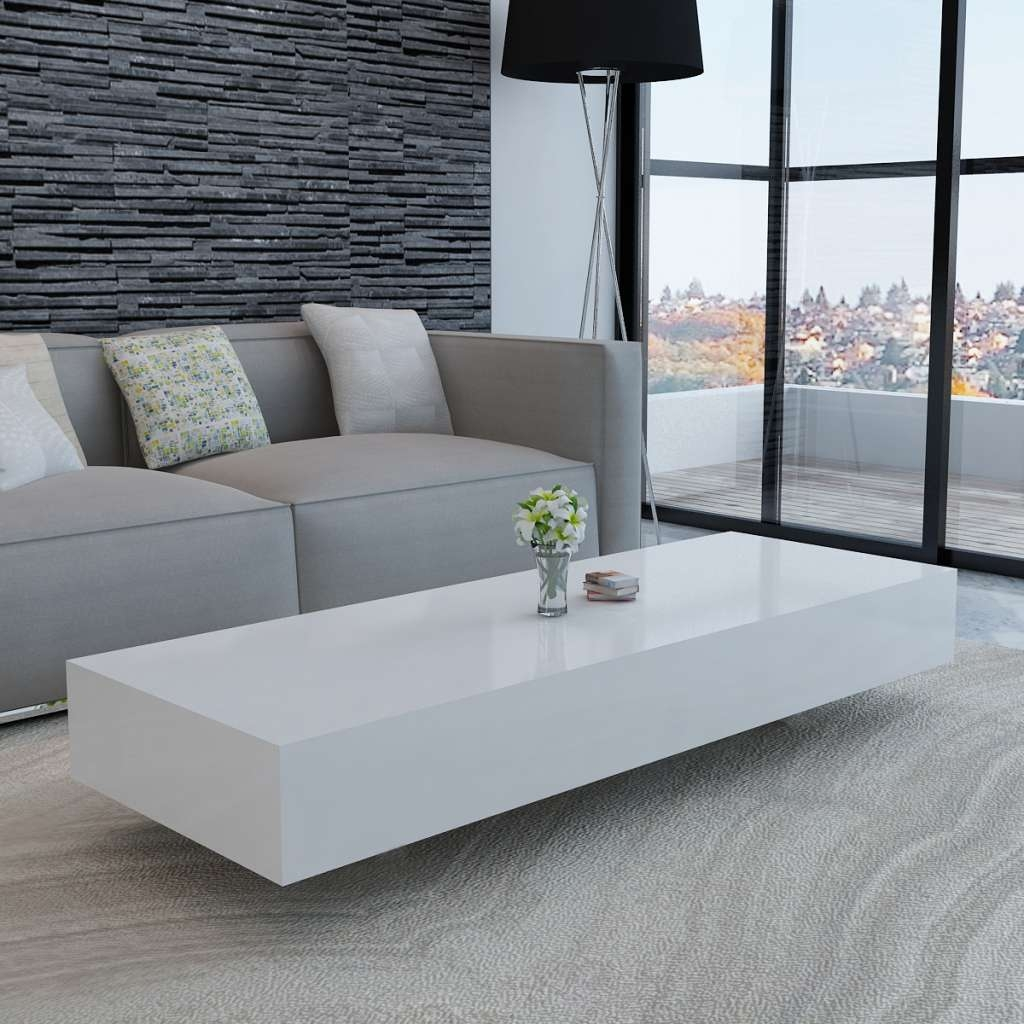 Famous Coffee Tables White High Gloss Throughout White White High Gloss Coffee Table 115 Cm – Lovdock (View 2 of 20)