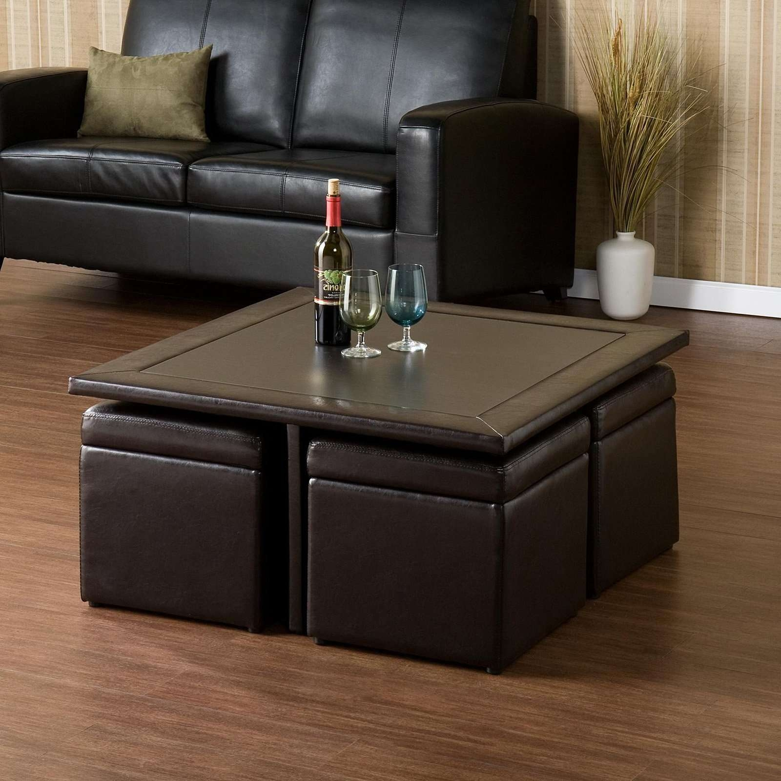 Famous Coffee Tables With Seating And Storage In Kanson Square Coffee Table With Storage Cubes • Coffee Table Ideas (View 8 of 20)