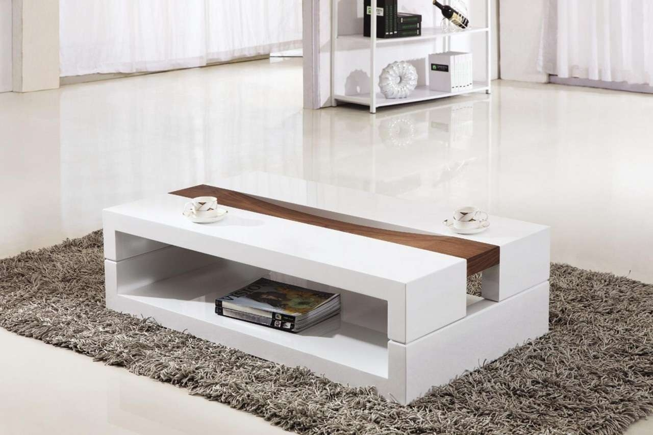 Famous Contemporary Coffee Table Sets Intended For Furniture: White Modern Coffee Tables Canada Storage Compartments (View 9 of 20)
