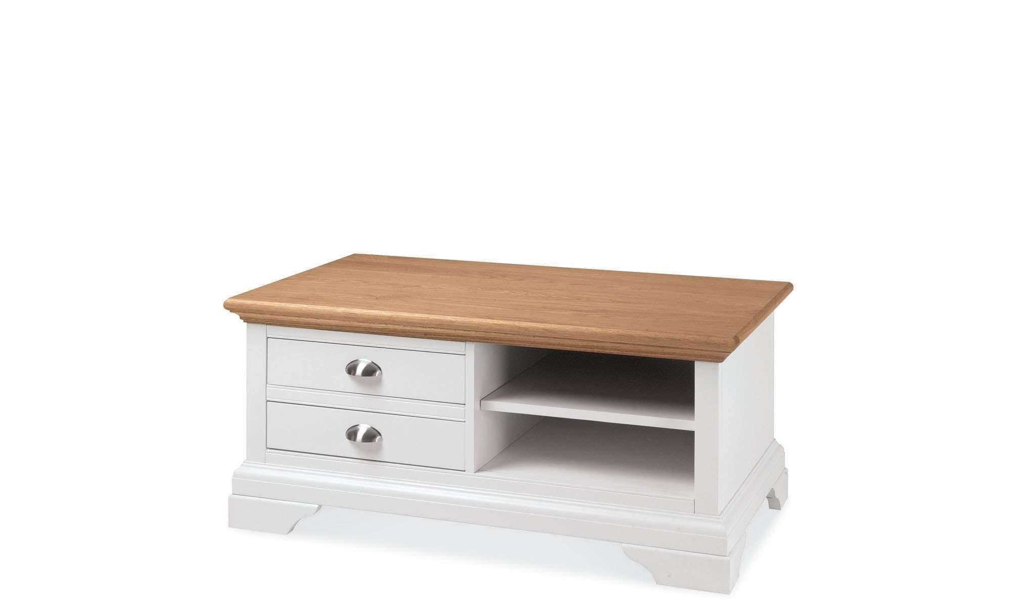 Famous Cream And Oak Coffee Tables With Coffee Table : Marvelous Coffee Table With Drawers Metal Coffee (View 5 of 20)