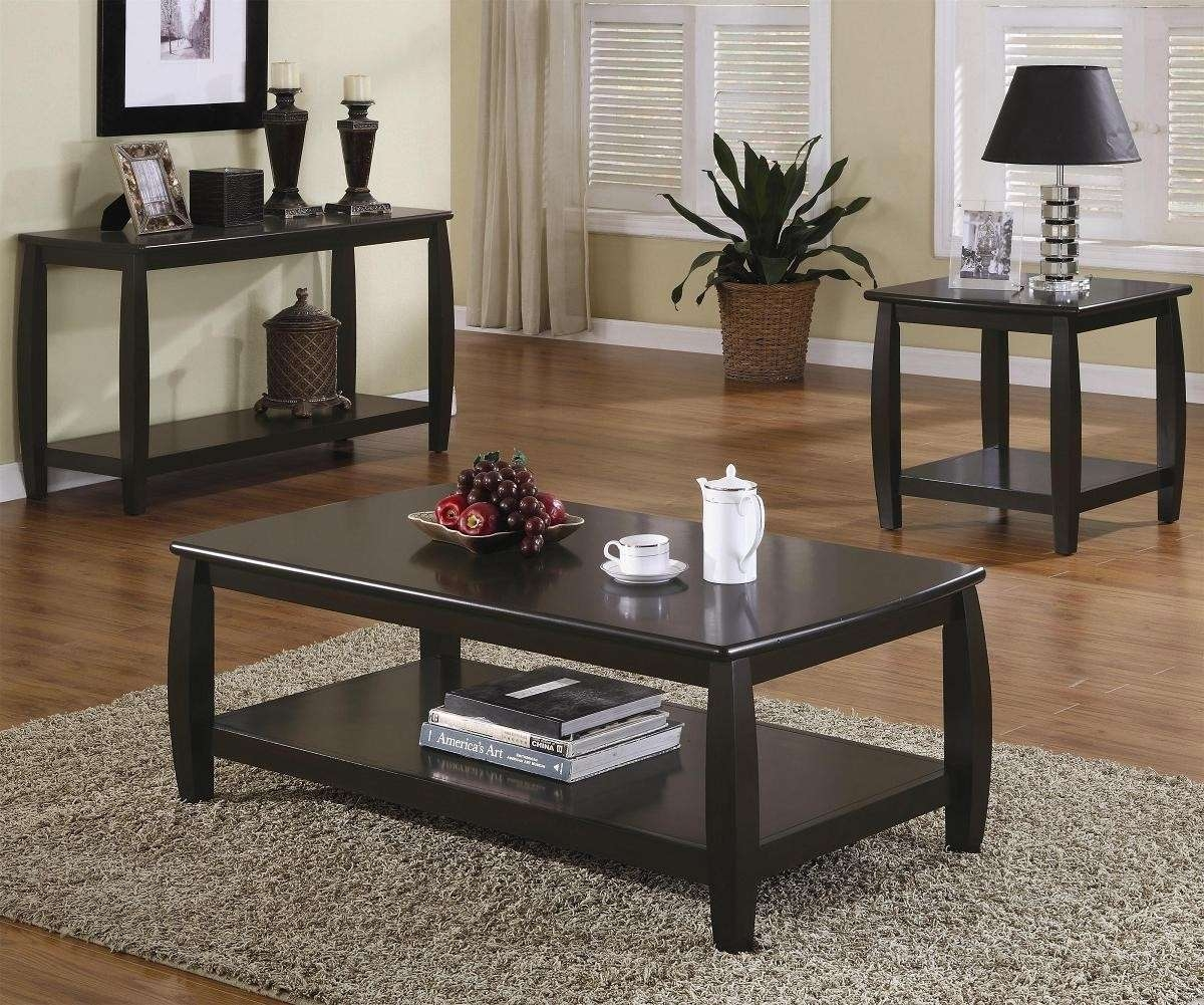 Famous Dark Brown Coffee Tables Pertaining To Coffee Tables : Brown Coffee Table Set Accent Tables Steal Sofa (View 9 of 20)