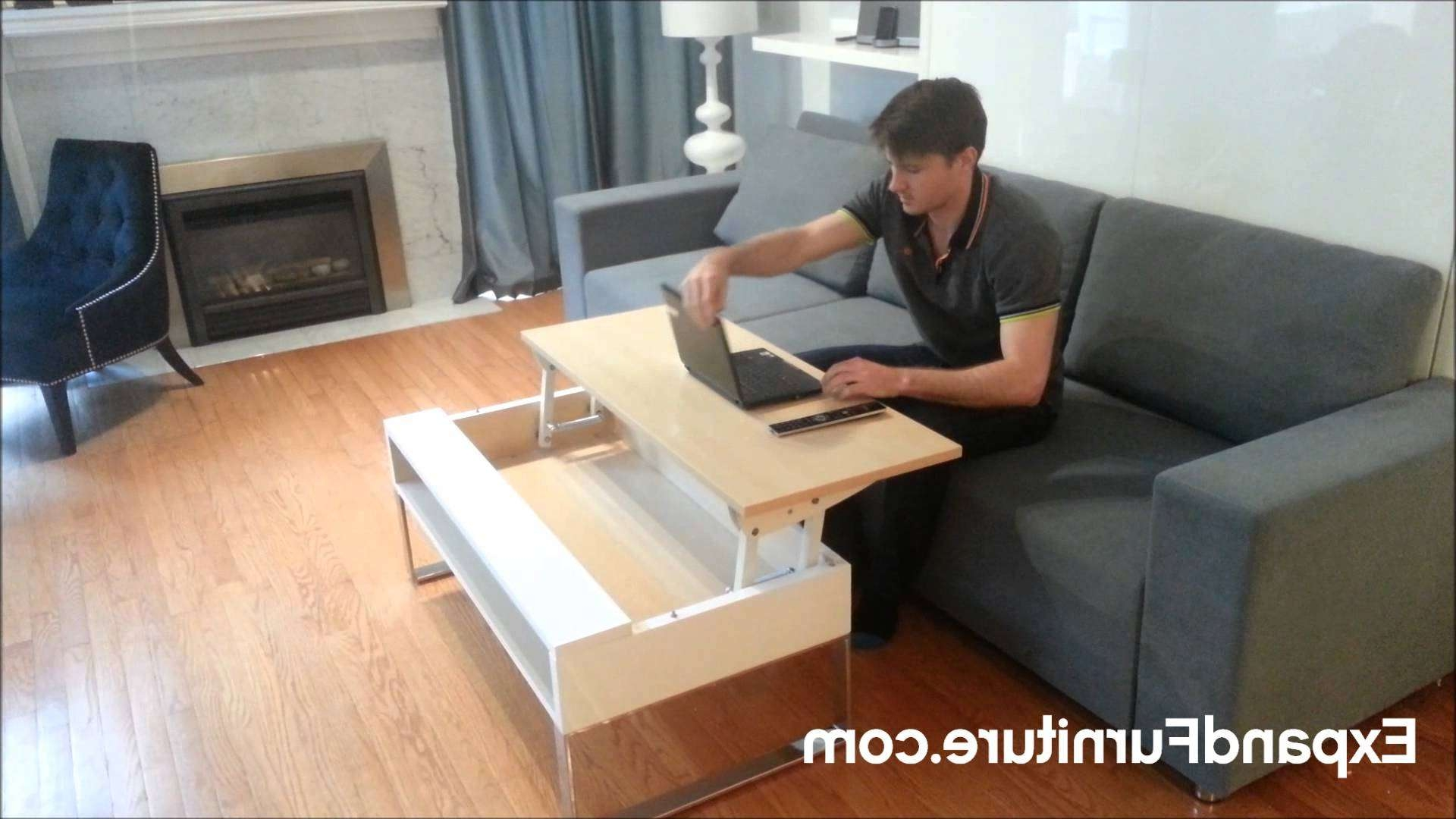 Famous Desk Coffee Tables Throughout Ultra Convenient Lifting Coffee Table Raises To Your Lap From (View 5 of 20)