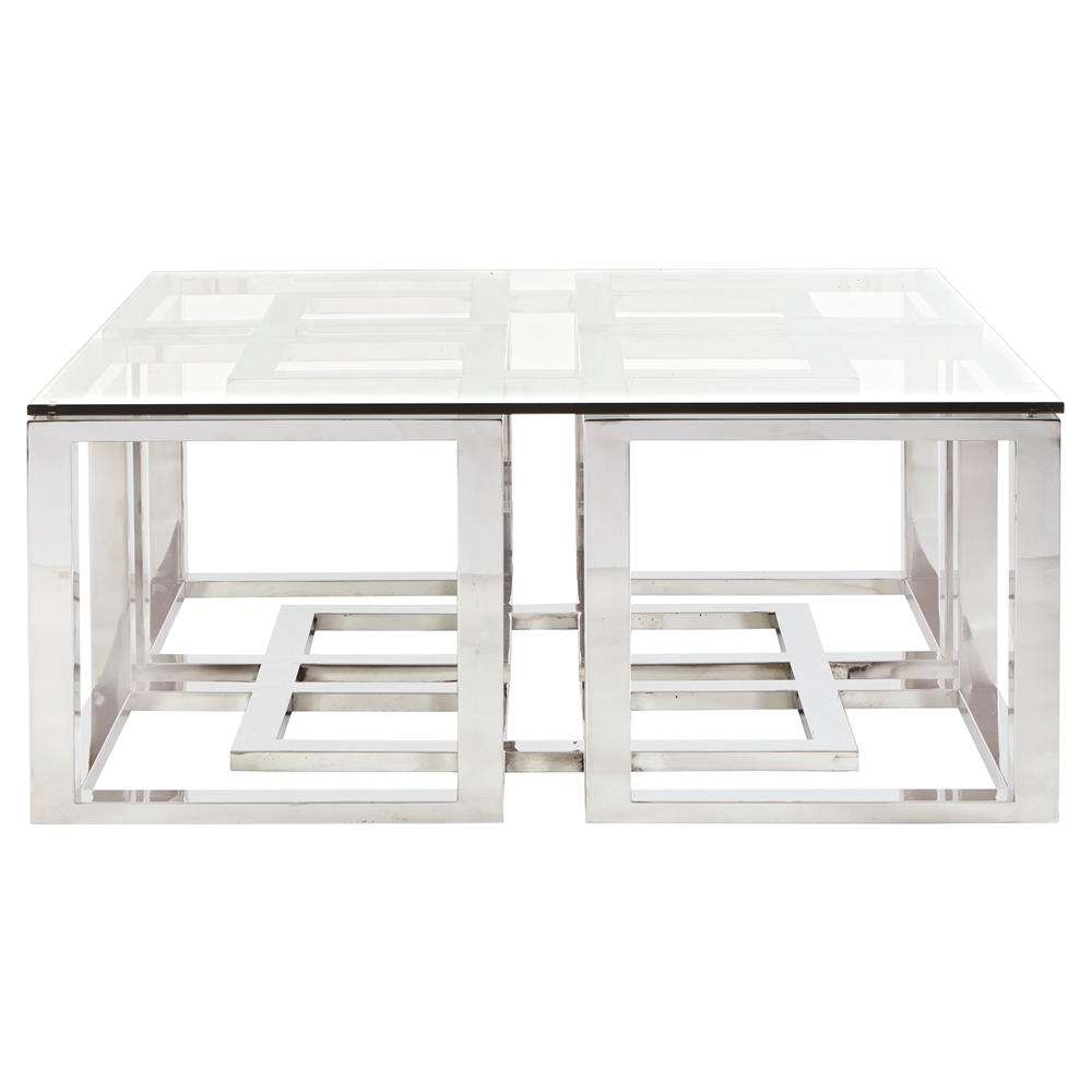 Famous Glass And Silver Coffee Tables In Coffee Table : Glass And Silver Coffee Table (View 3 of 20)