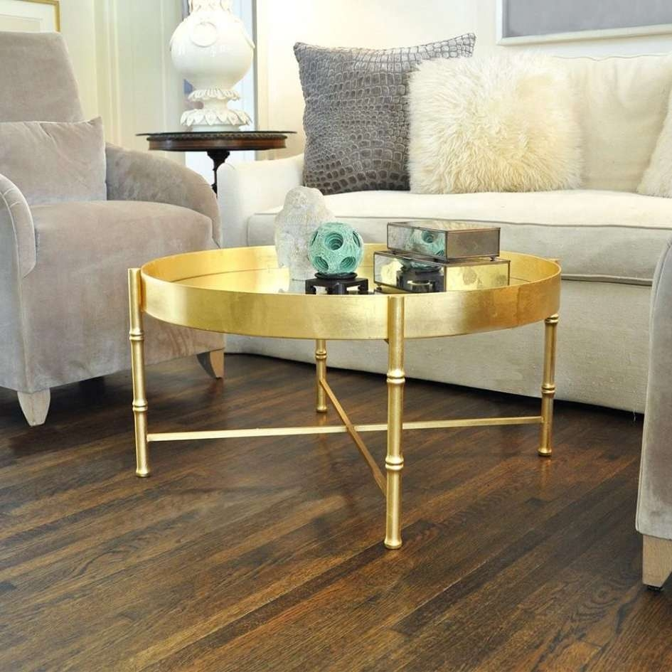Famous Gold Bamboo Coffee Tables For Gold Round Coffee Table – Writehookstudio (View 7 of 20)