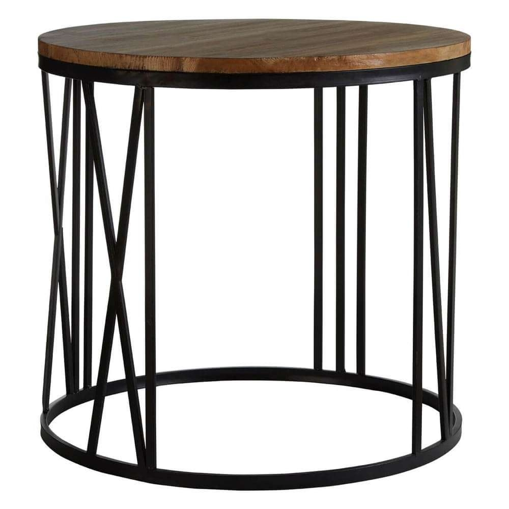 Famous Industrial Round Coffee Tables Within Industrial Dulwich Round Coffee And Side Table (View 10 of 20)