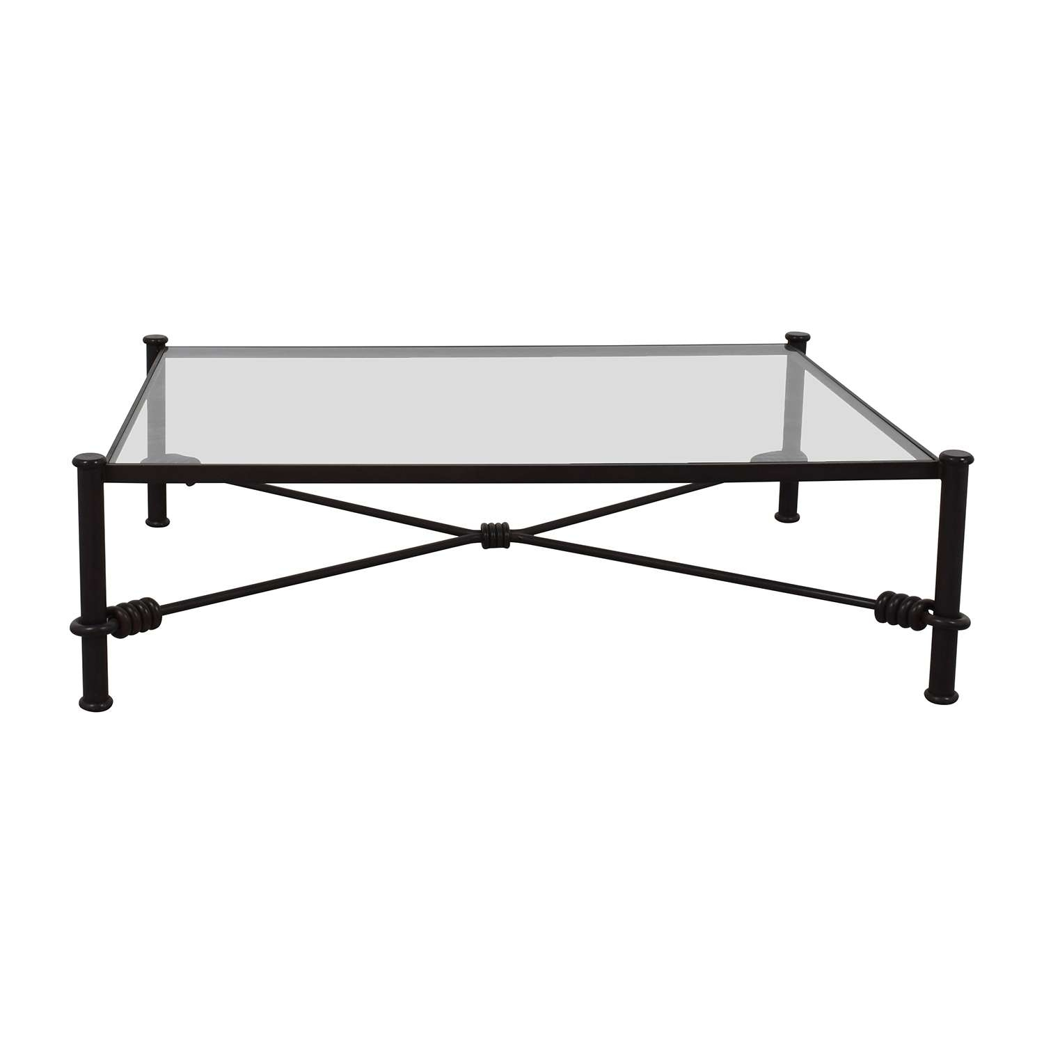 [%famous Iron Glass Coffee Table Pertaining To 88% Off – Black Wrought Iron Glass Coffee Table / Tables|88% Off – Black Wrought Iron Glass Coffee Table / Tables Within Favorite Iron Glass Coffee Table%] (View 9 of 20)