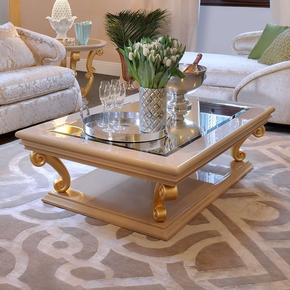 Famous Italian Coffee Tables Inside High End Modern Italian Gold Coffee Table (View 10 of 20)