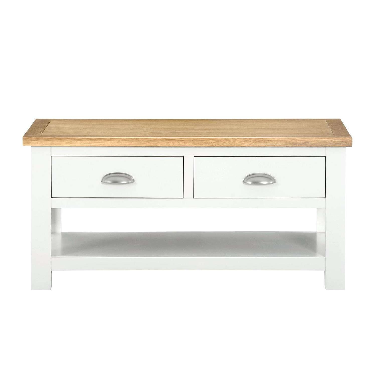 Famous Oak And Cream Coffee Tables Pertaining To Cream And Oak Coffee Table Somerset Oak And Cream Coffee Table (View 8 of 20)