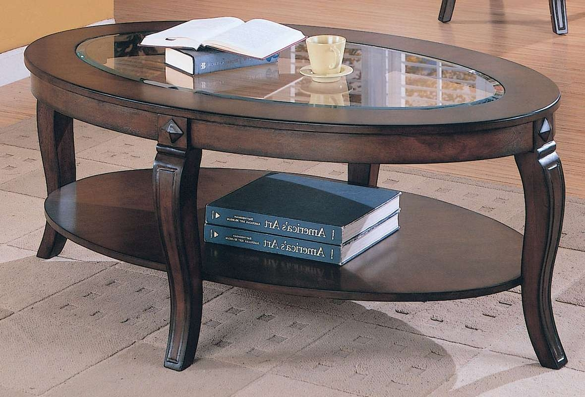 Famous Oval Wood Coffee Tables Regarding Oval Glass Wood Coffee Table Design — The Home Redesign : Very (View 9 of 20)