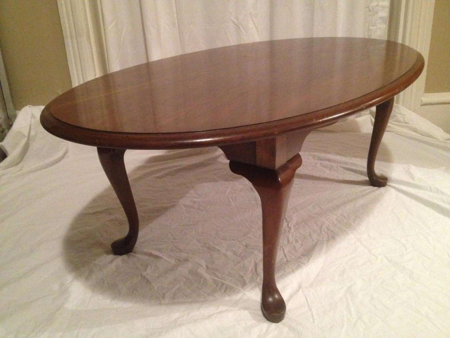 Famous Oval Wooden Coffee Tables In Coffee Tables : Terrific Light Brown Farmhouse Oval Wood Coffee (View 8 of 20)