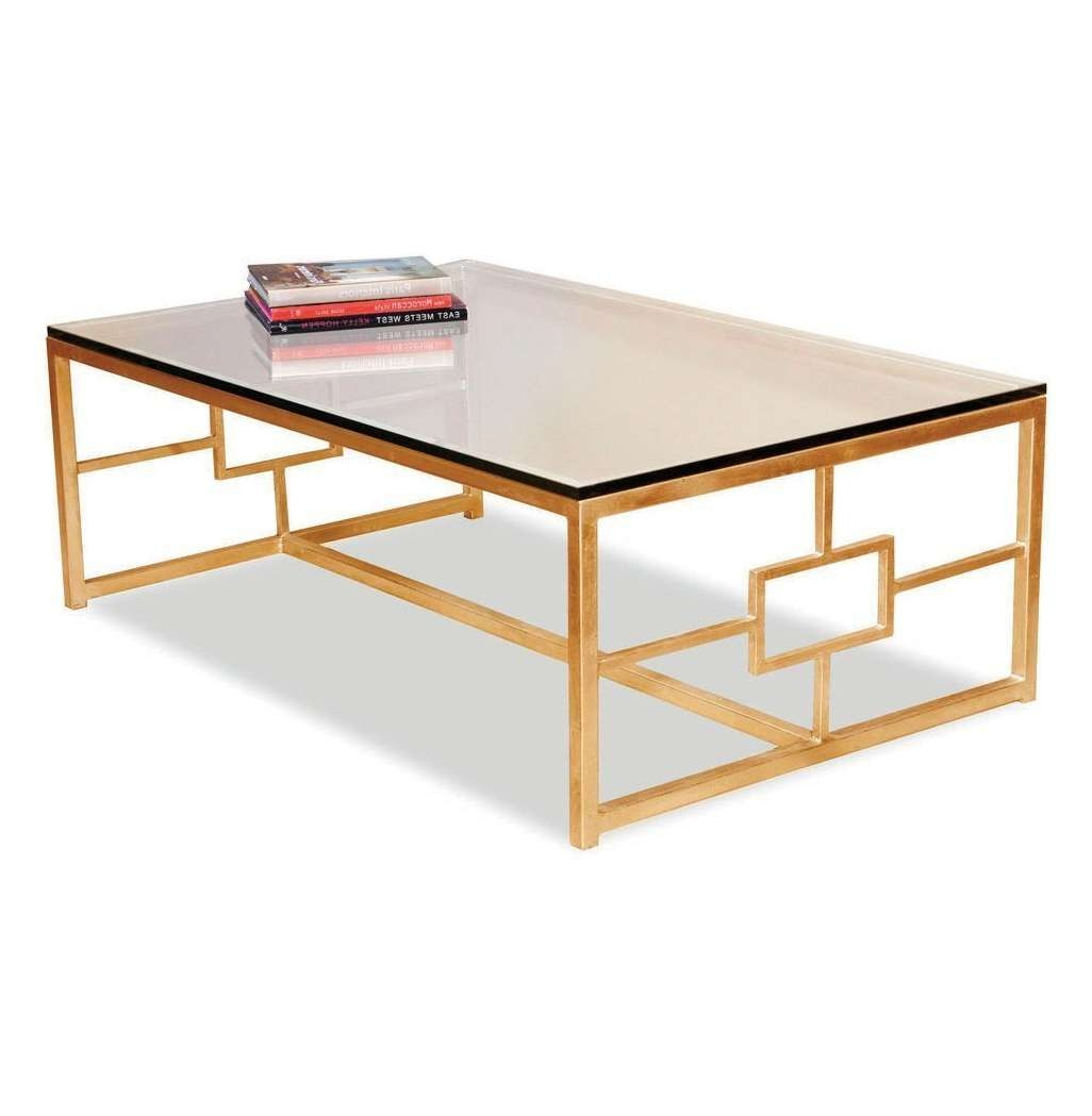 Famous Retro Glass Coffee Tables In Coffee Table: Marvellous Glass And Gold Coffee Table Gold And (View 9 of 20)