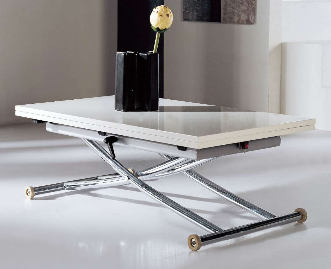Famous Revolving Glass Coffee Tables With Regard To Space Saving Table – Coffee Table Transforms Into Dining Table, Lifts (View 9 of 20)