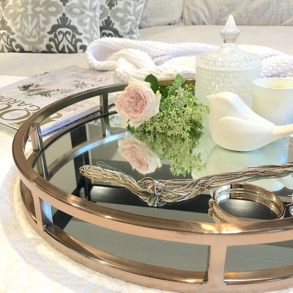 Famous Round Coffee Table Trays For Coffee Tables : Large Coffee Table Tray Round Ottoman Trays What (View 10 of 20)