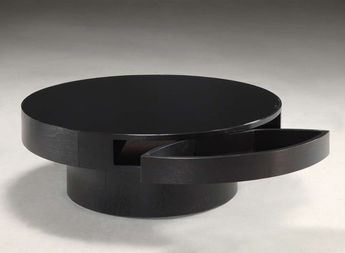 Famous Round Coffee Tables With Storage Intended For Modern Round Coffee Table Storage Round Coffee Table With Storage (View 4 of 20)