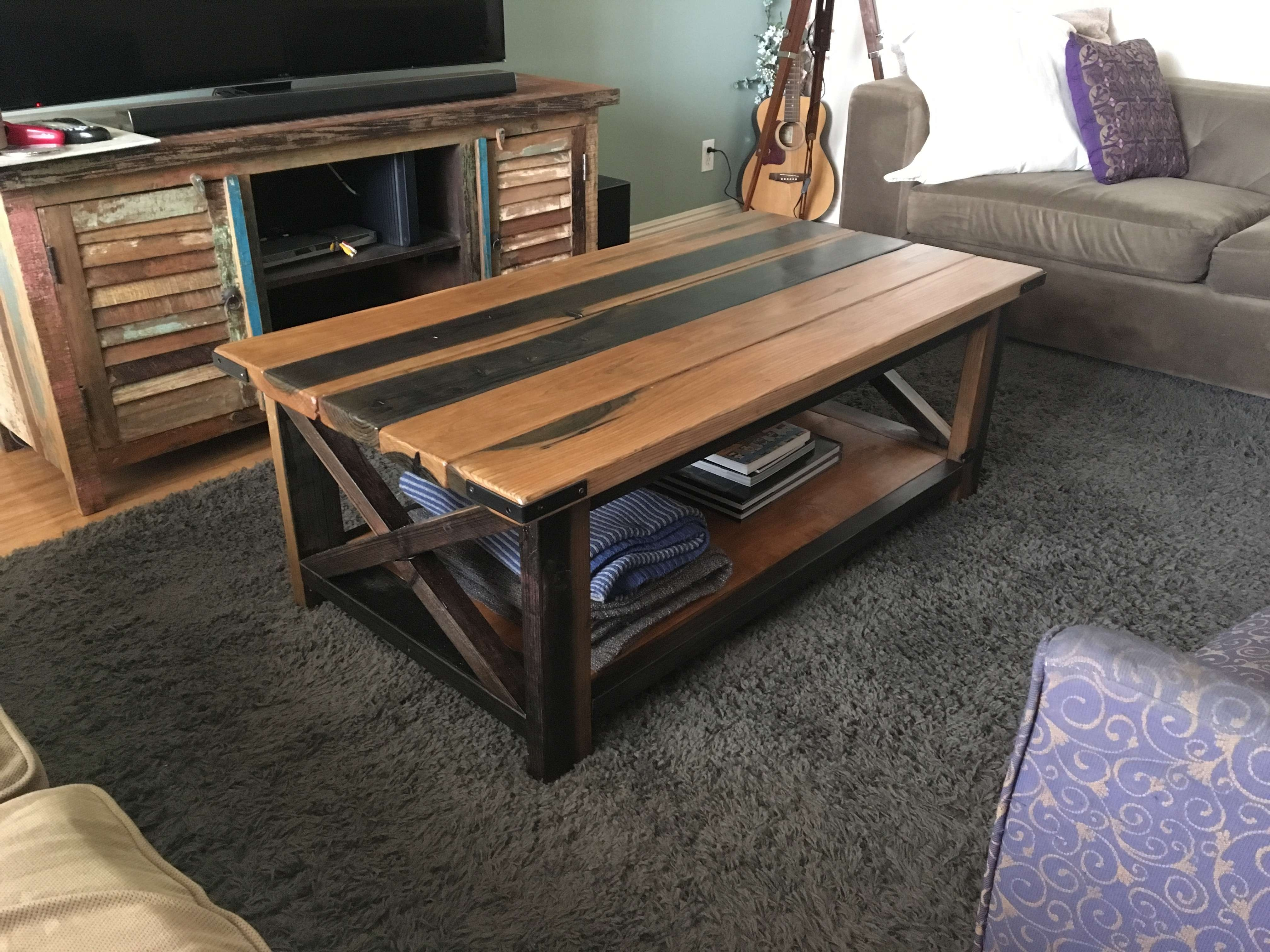 Famous Rustic Wood Diy Coffee Tables Pertaining To Diy Rustic Coffee Table – Album On Imgur (View 16 of 20)