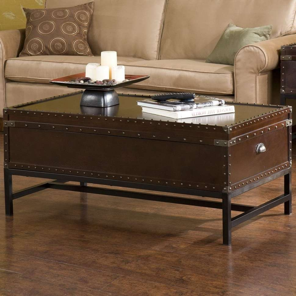 Famous Silver Trunk Coffee Tables Throughout Coffee Tables : Storage Trunk Coffee Table Style Trunks Stunning (View 4 of 20)
