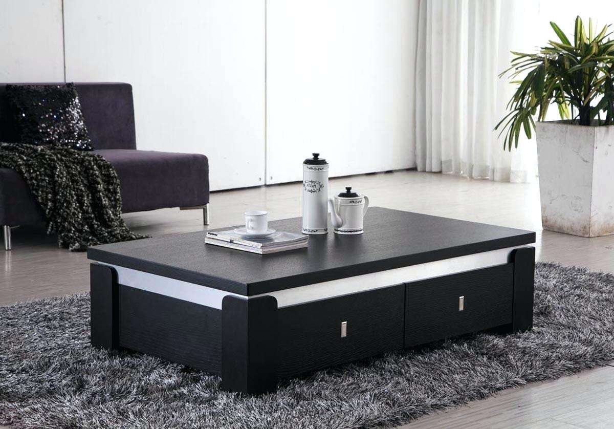 Famous Square Coffee Table Storages With Square Coffee Table With Storage Glass Top Large (View 7 of 20)